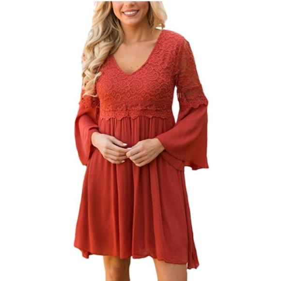 Red Bohemian Dresses
